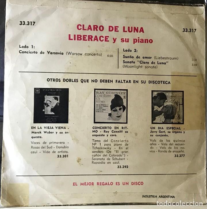 Discos de vinilo: EP argentino de Liberace y su piano año 1956 - Foto 2 - 56469570