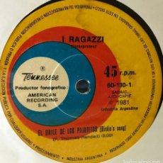 Discos de vinilo: SENCILLO ARGENTINO DE I RAGAZZI AÑO 1981. Lote 56469498