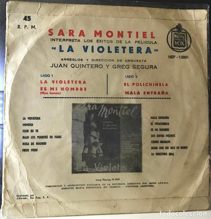 Discos de vinilo: EP argentino de Sara Montiel año 1958 - Foto 2 - 27503099