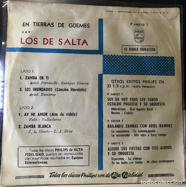 Discos de vinilo: EP argentino de Los de Salta año 1962 - Foto 2 - 39978549