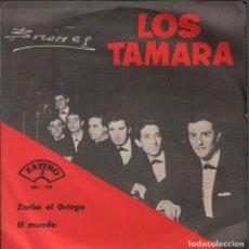 Disques de vinyle: LOS TAMARA - ZORBA EL GRIEGO / EL MUNDO / SINGLE ZAFIRO DE 1965 RF-4229. Lote 185775506