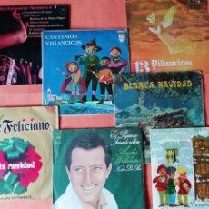 Discos de vinilo: NAVIDAD. LOTE DE SIETE SINGLES DE VILLANCICOS AÑOS 60 Y 70. ALGUNOS RAROS.VER FOTOS.. Lote 185784280