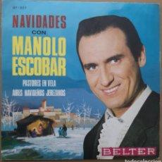Discos de vinilo: MANOLO ESCOBAR - NAVIDADES. Lote 185788311