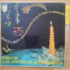 Discos de vinilo: CORO DE LAS ESCUELAS AVEMARIANAS - VAMOS A BELÉN. Lote 185874055