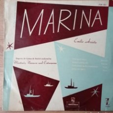 Discos de vinilo: MARINA, DE EMILIO ARRIETA. SELLO MONTILLA. Lote 185881490