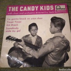 Discos de vinilo: THE CANDY KIDS - YOUPI YOUPI + 3. Lote 185890610