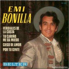 Discos de vinilo: EMI BONILLA – VERDIALES DE LA COSTA - EP SPAIN 1969 - BELTER 52.329. Lote 185896083