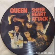 Discos de vinilo: QUEEN - FREDDIE MERCURY - SHEER HEART ATTACK - LP VINILO PICTURE DISC EDICION MEXICANA #. Lote 185901998
