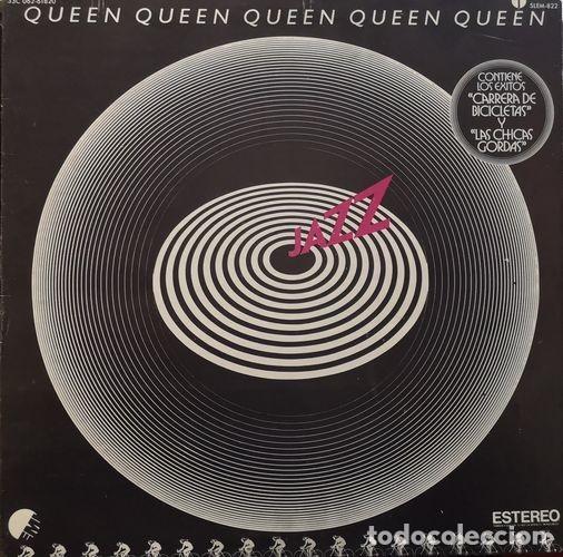 QUEEN - FREDDIE MERCURY - JAZZ - PRIMERA EDICION MEJICANA - CON POSTER - PORTADA ABIERTA # (Música - Discos - LP Vinilo - Pop - Rock - Extranjero de los 70)