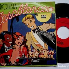 Discos de vinilo: ORQUESTA CASABLANCA - DESCARGA CASABLANCA / MARIA CRISTINA - SINGLE 1981 - AUVI. Lote 185909128