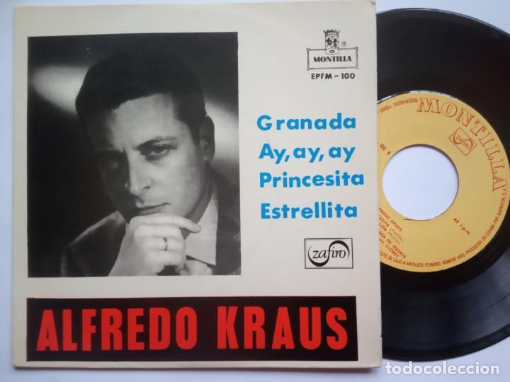 ALFREDO KRAUS - GRANADA - EP 1959 - MONTILLA (Música - Discos de Vinilo - EPs - Clásica, Ópera, Zarzuela y Marchas)