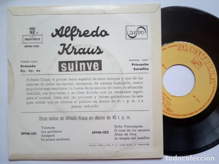 Discos de vinilo: ALFREDO KRAUS - granada - EP 1959 - MONTILLA - Foto 2 - 185911586