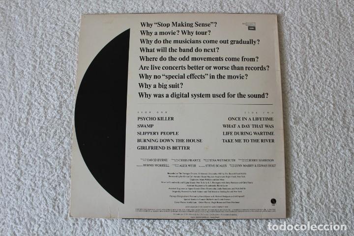 Discos de vinilo: TALKING HEADS: STOP MAKING SENSE - LP. EMI 1984 - Foto 3 - 185919112