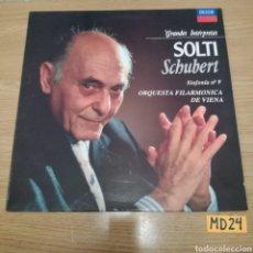 Discos de vinilo: SOLTI SCHUBERT. Lote 185929972