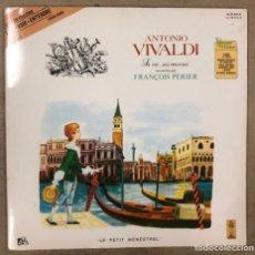 """Discos de vinilo: ANTONIO VIVALDI """"LA VIE, SES ÆUVRES"""" RACONTÉES PAR FRANÇOIS PERIER. LE PETIT MENESTREL 1970. Lote 175302998"""