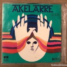 Discos de vinilo: AKELARRE SORTA BOST (1974). SHEGUNDO GALARZA ORKESTA ETA ABESBATZA. MUY RARO. L.P. VINILO.. Lote 175303354