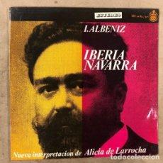 """Discos de vinilo: I. ALBÉNIZ """"IBERIA Y NAVARRA"""". NUEVA INTERPRETACIÓN DE ALÍCIA DE LARROCHA: DOBLE L.P. VINILO. Lote 175536482"""