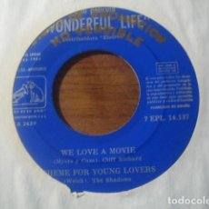 Discos de vinilo: THE SHADOWS - WONDERFUL LIFE EP ****** SUPER RARO EP PROMOCIONAL ESPAÑOL 1965. Lote 185950896