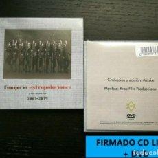 Discos de vinilo: FIRMADO FANGORIA -EXTRAPOLACIONES Y DOS PREGUNTAS 2001-2019 CD LIBRO+DVD PRE8/11. Lote 185953711