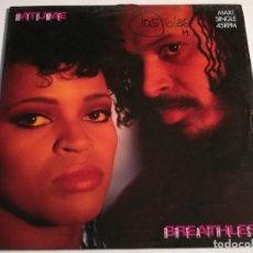 Discos de vinilo: MTUME - BREATHLESS - 1986. Lote 185963840