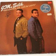 Discos de vinilo: J.M. SILK - SHADOWS OF YOUR LOVE - 1986. Lote 185965216