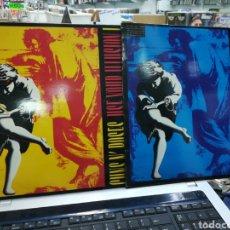 Discos de vinilo: LOTE 2 DOBLES LP GUNS N' ROSES USE YOUR ILLUSION I & II ESPAÑA 1991 EN PERFECTO ESTADO. Lote 218813413