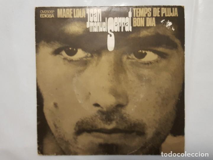 EP / JOAN MANUEL SERRAT / MARE LOLA - BON DIA - TEMPS DE PLUJA / 1969 (Música - Discos de Vinilo - EPs - Cantautores Españoles)