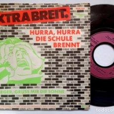 Discos de vinilo: EXTRABRETT - HURRA HURRA / FLIEGER GRUSS - SINGLE ALEMAN 1981 - REFLEKTOR Z. Lote 186001460