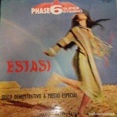 Discos de vinilo: ESTASI VARIOS INTÉRPRETES PHASE 6 SUPER STEREO. Lote 186014836
