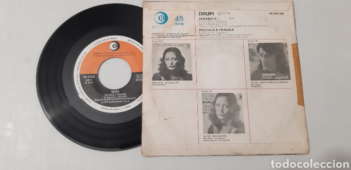 Discos de vinilo: Drupi. Sereno e. Picola he fragile. - Foto 2 - 186026805