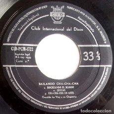 Discos de vinilo: GERALDO LA VINY Y SU ORQUESTA – BAILANDO CHA-CHA-CHA (CID, CID-PCM-1722, 7'', EP, 1959) . Lote 186027035