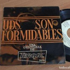 Discos de vinilo: OBRA BENEFICA FORMIDABLES. RADIO MADRID (USTEDES SON FORMIDABLES) EP PROMO TERGAL 1963 (EPI03). Lote 186027236