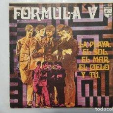 Discos de vinilo: SINGLE / FORMULA V / LA PLAYA, EL SOL, EL MAR, EL CIELO Y TU - HIT PARADE / 1968. Lote 186030337