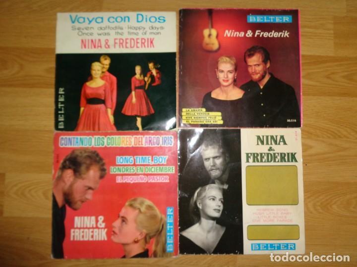 LOTE 4 EP'S DE NINA & FREDERIK (Música - Discos de Vinilo - EPs - Étnicas y Músicas del Mundo)