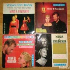 Discos de vinilo: LOTE 4 EP'S DE NINA & FREDERIK. Lote 186032000