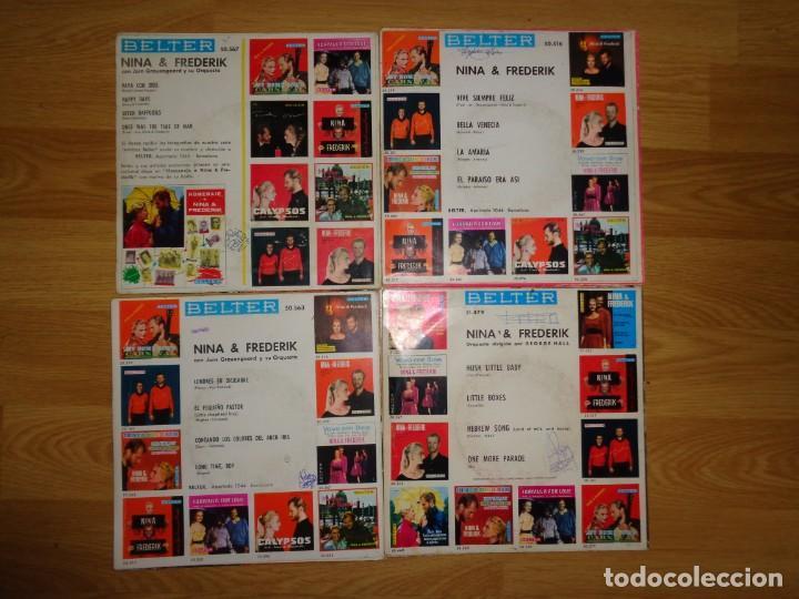 Discos de vinilo: LOTE 4 EPS DE NINA & FREDERIK - Foto 2 - 186032000