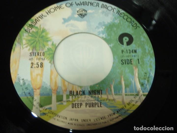 Discos de vinilo: Deep Purple - Black Night - Into The Fire 1976-Japon Single45 Warner Bros Records - Foto 4 - 186019012