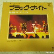 Discos de vinilo: DEEP PURPLE - BLACK NIGHT (LIVE VERSION) - WOMAN FROM TOKYO 1975-JAPON SINLGE45 WARNER BROS REC. Lote 186024962