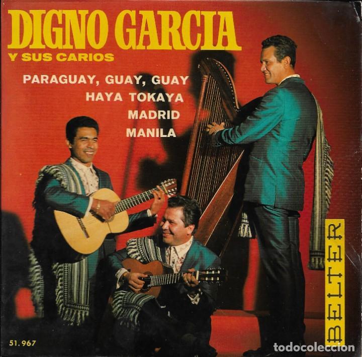 DIGNO GARCIA Y SUS CARIOS PARAGUAY GUAY GUAY BELTER 1969 (Música - Discos de Vinilo - EPs - Grupos y Solistas de latinoamérica)