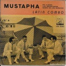 Discos de vinilo: LATIN COMBO MUSTAPHA LA VOZ DE SU AMO 1960. Lote 186042796