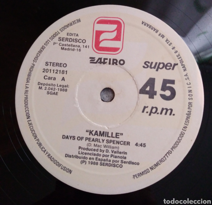 Discos de vinilo: Kamille - Days of pearly spencer - Foto 3 - 186043213
