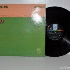 Discos de vinilo: DAVID OISTRAKH, CONCERTOS STRAVINSKY, MOZART, PHILIPS PHS900-050 USA 1964 EX/VG+. Lote 186044176