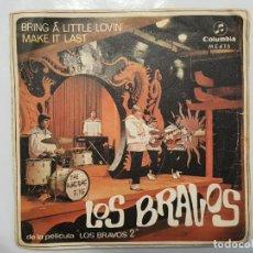 Discos de vinilo: SINGLE / LOS BRAVOS / BRING A LITTLE LOVIN - MAKE IT LAST / 1967. Lote 186045943