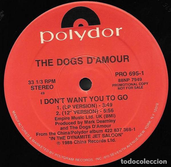 Discos de vinilo: THE DOGS D' AMOUR – I Don't Want You To Go - Foto 2 - 186052480