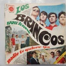 Discos de vinilo: SINGLE / LOS BRINCOS / NADIE TE QUIERE YA - YOU KNOW / 1967. Lote 186055592