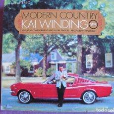 Disques de vinyle: LP - KAI WINDINGO - MODERN COUNTRY (GERMANY, VERVE RECORDS SIN FECHA). Lote 186057738