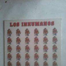 Discos de vinilo: LOS INHUMANOS - 30 HOMBRES SOLOS. Lote 186058000