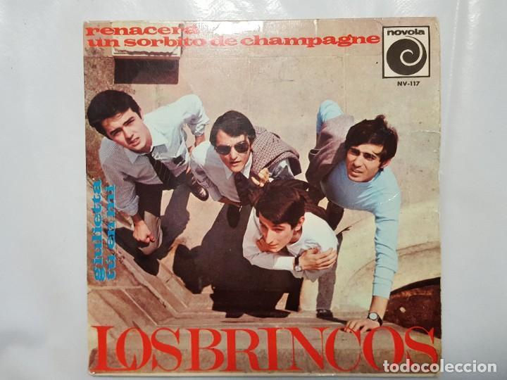 EP / LOS BRINCOS / RENACERA - UN SORBITO DE CHAMPAGNE - GIULIETTA - TU EN MI / 1966 (Música - Discos de Vinilo - EPs - Grupos Españoles 50 y 60)