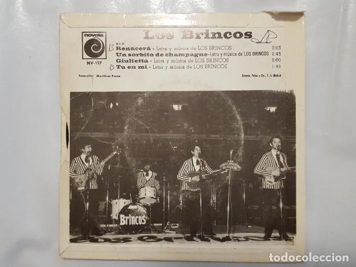 Discos de vinilo: EP / LOS BRINCOS / RENACERA - UN SORBITO DE CHAMPAGNE - GIULIETTA - TU EN MI / 1966 - Foto 2 - 186060458