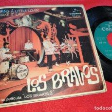 Discos de vinilo: LOS BRAVOS BRING A LITTLE LOVIN/MAKE IT LAST 7 SINGLE 1967 COLUMBIA. Lote 186061132